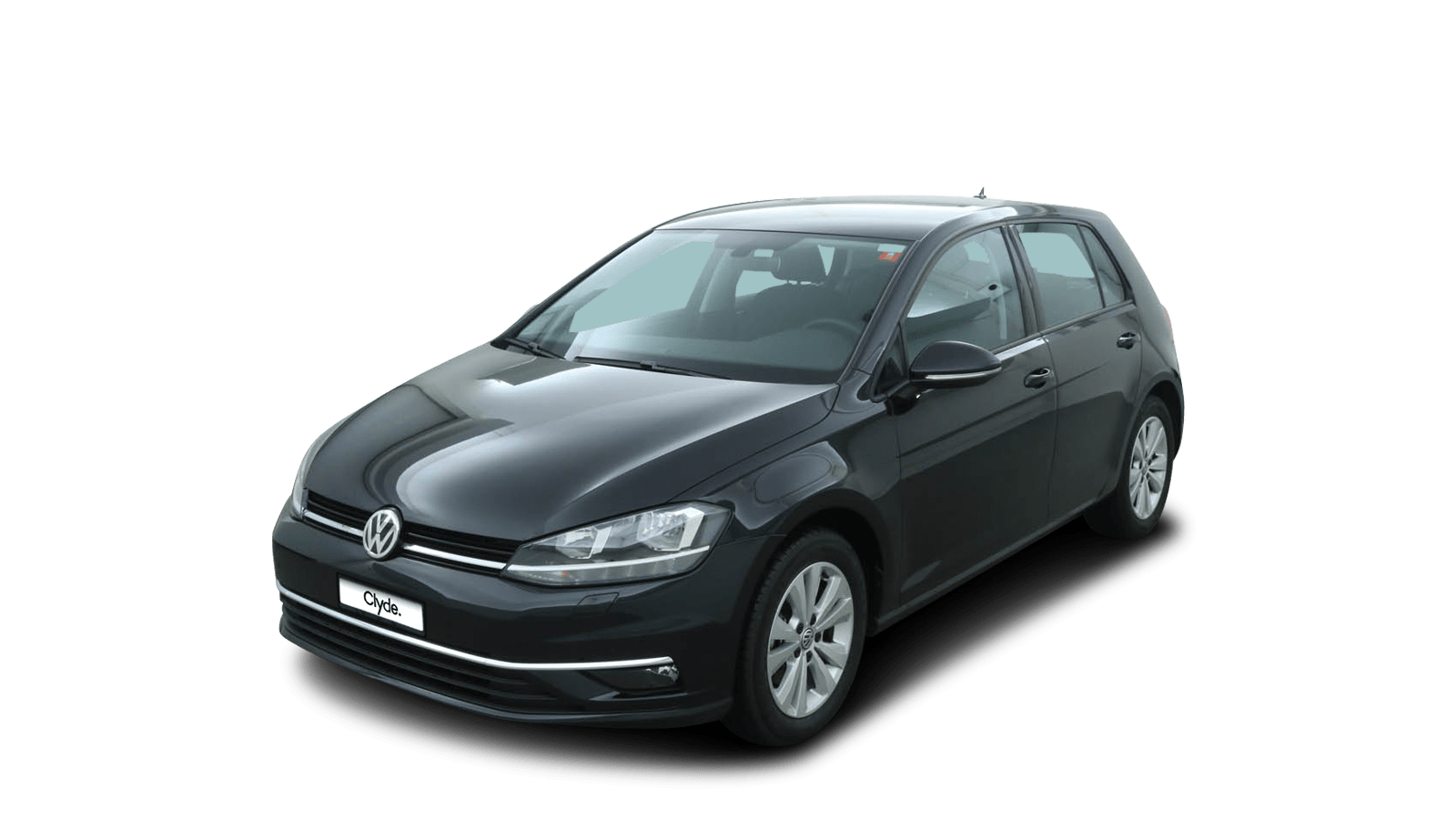VW Golf Schwarz front - Clyde Auto-Abo