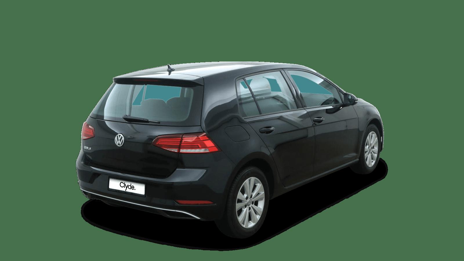 VW Golf Schwarz rückansicht - Clyde Auto-Abo