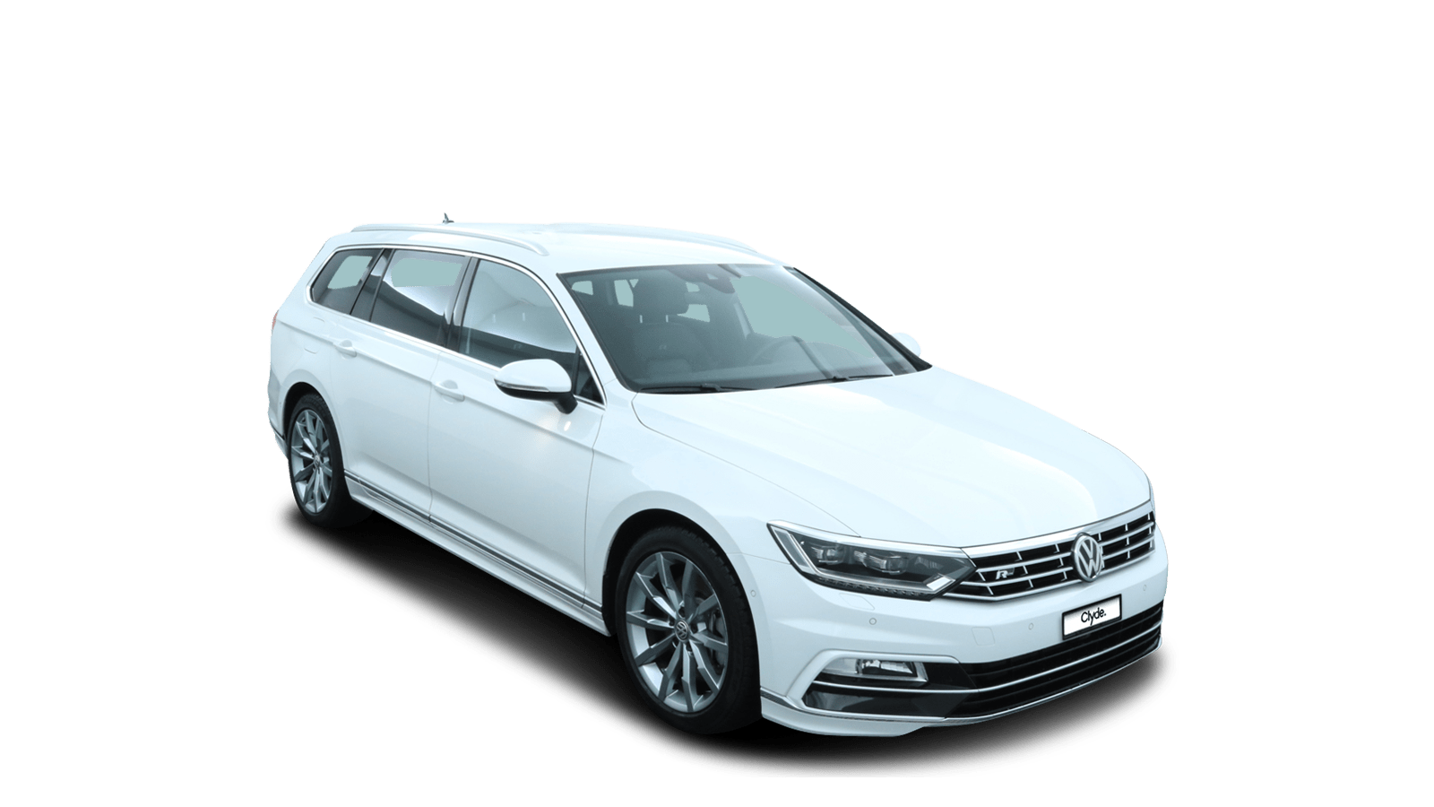 VW Passat Variant White front - Clyde car subscription