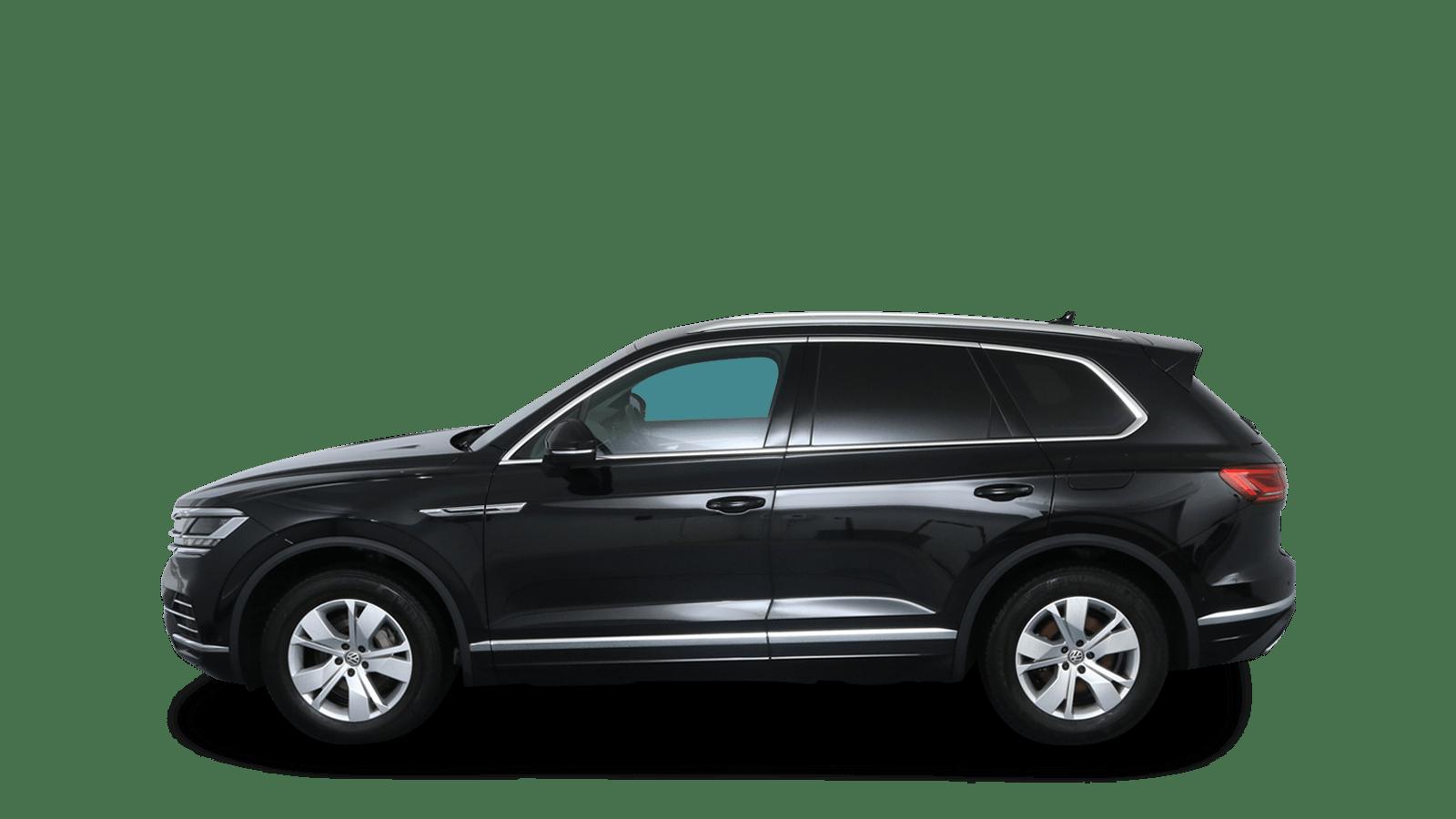 VW Touareg Schwarz rückansicht - Clyde Auto-Abo