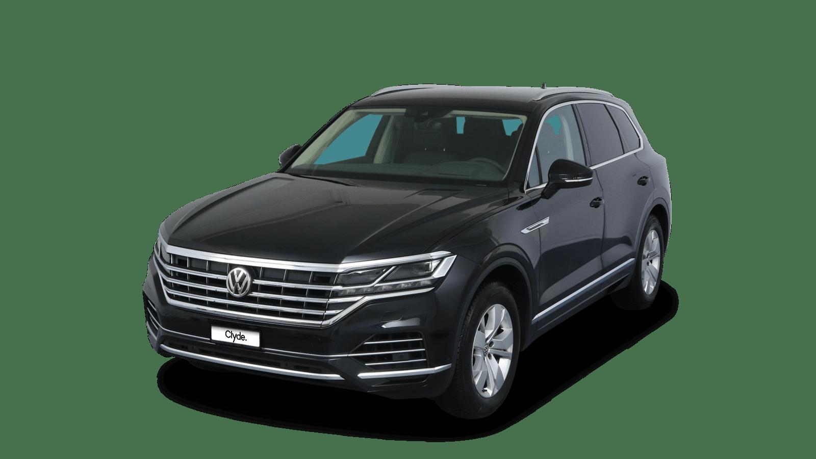 VW Touareg Schwarz front - Clyde Auto-Abo