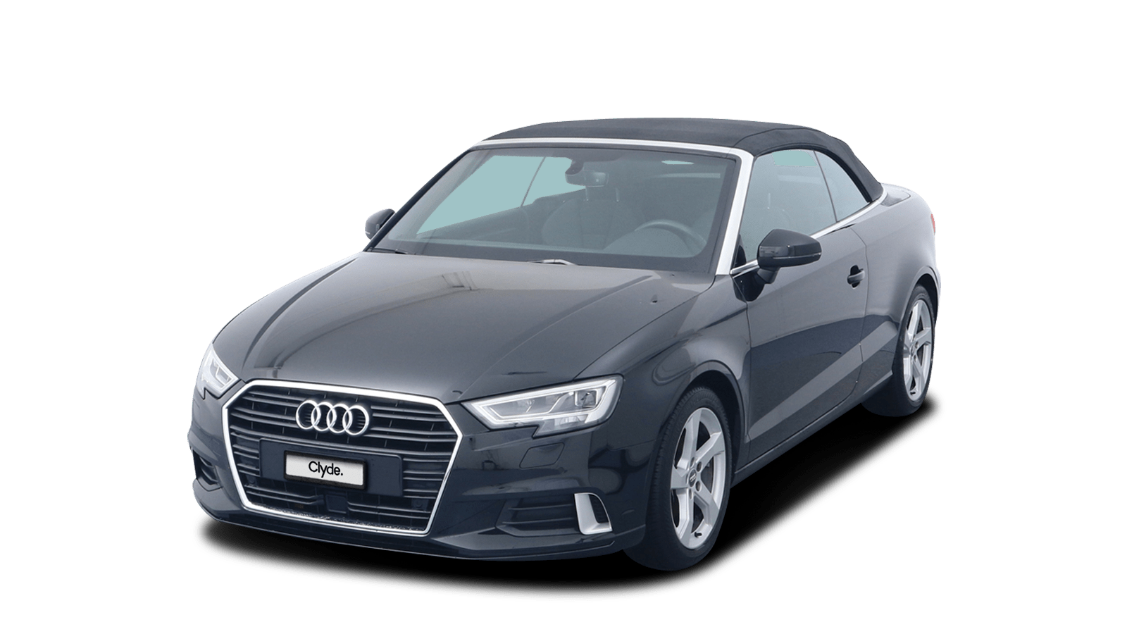 Audi A3 Cabriolet Schwarz front - Clyde Auto-Abo