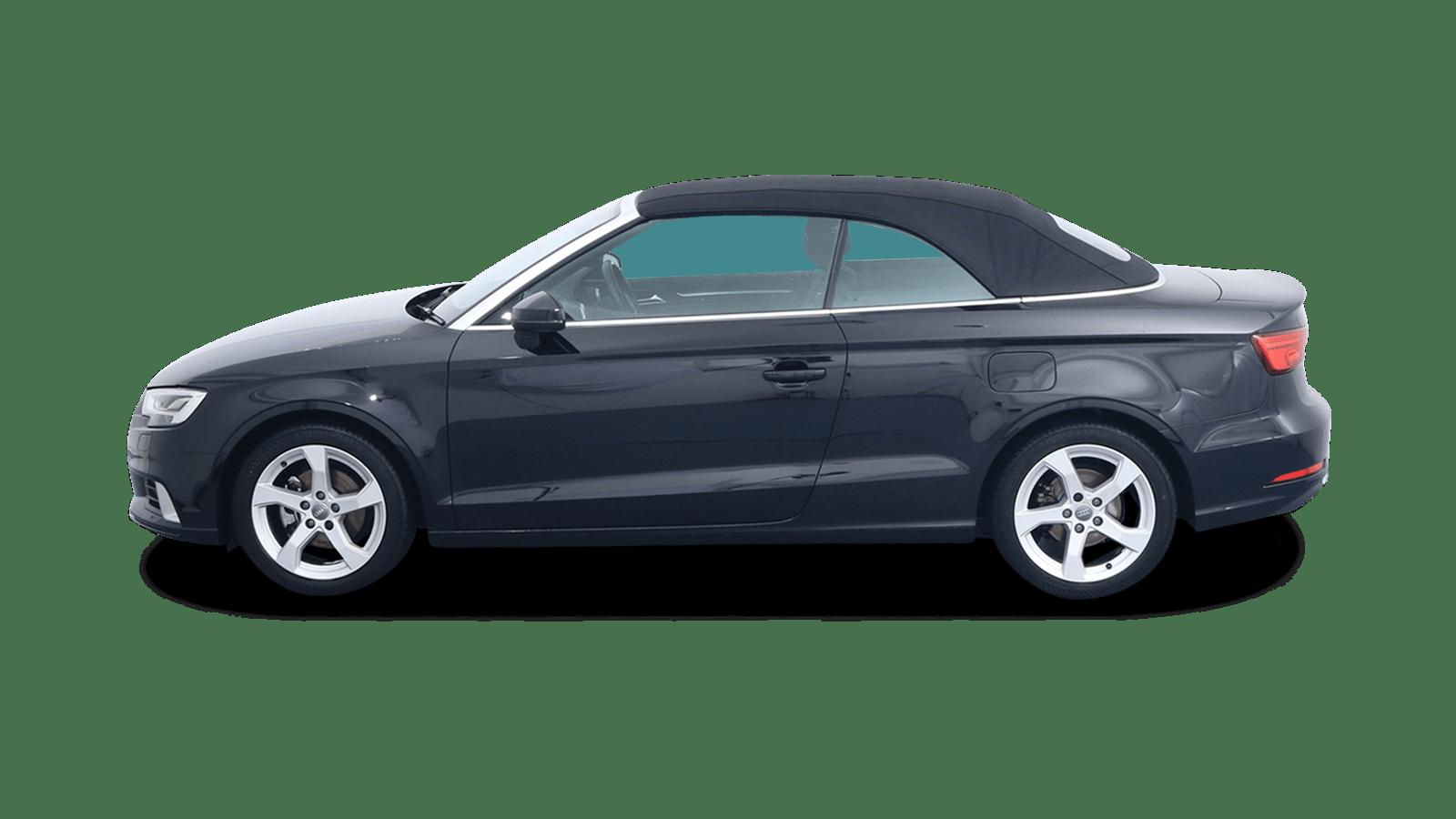 Audi A3 Cabriolet Schwarz rückansicht - Clyde Auto-Abo