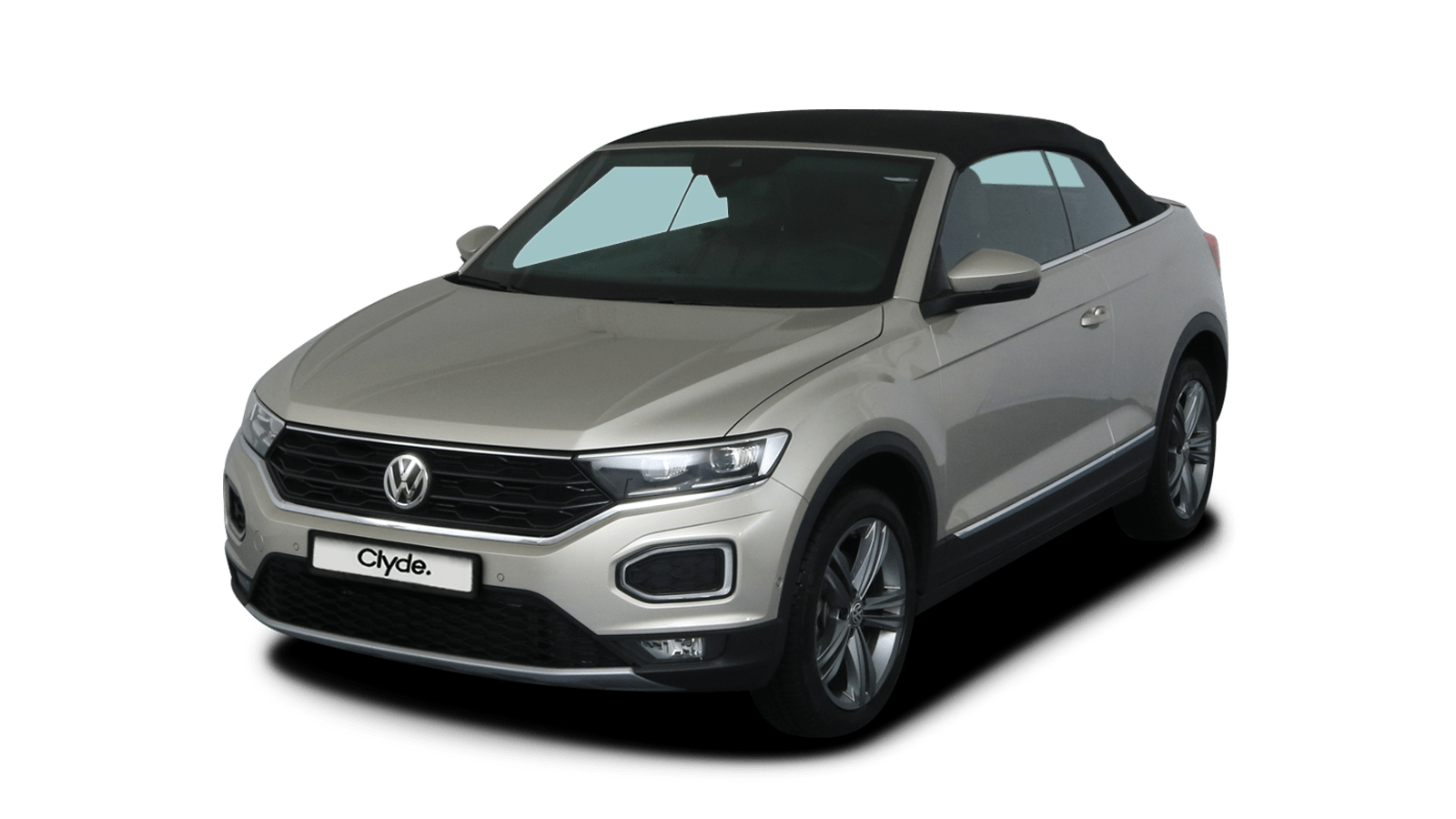 VW T-Roc Cabriolet Silber front - Clyde Auto-Abo
