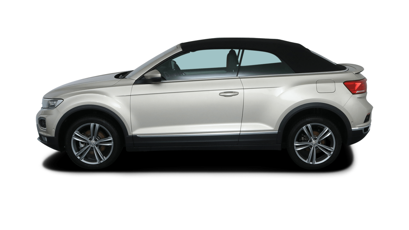 VW T-Roc Cabriolet Silber rückansicht - Clyde Auto-Abo