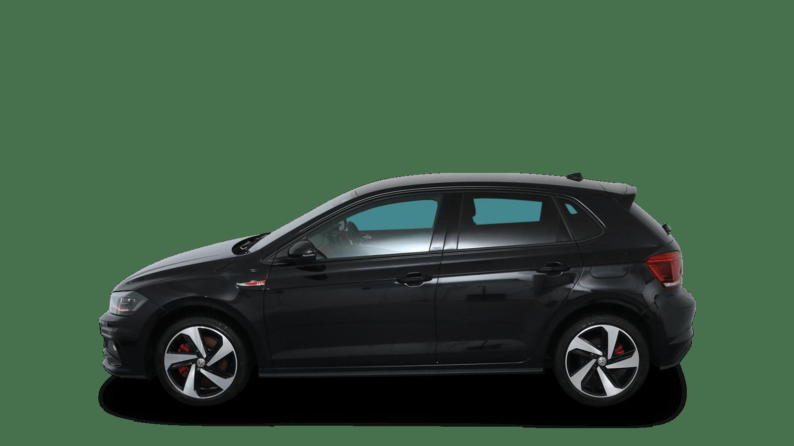 VW Polo GTI Schwarz rückansicht - Clyde Auto-Abo
