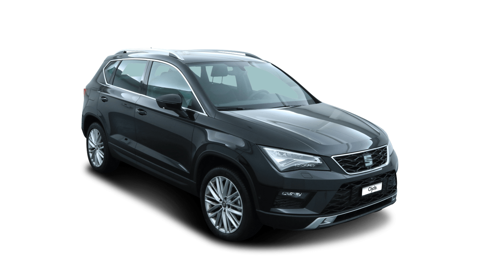 SEAT Ateca Black front - Clyde car subscription