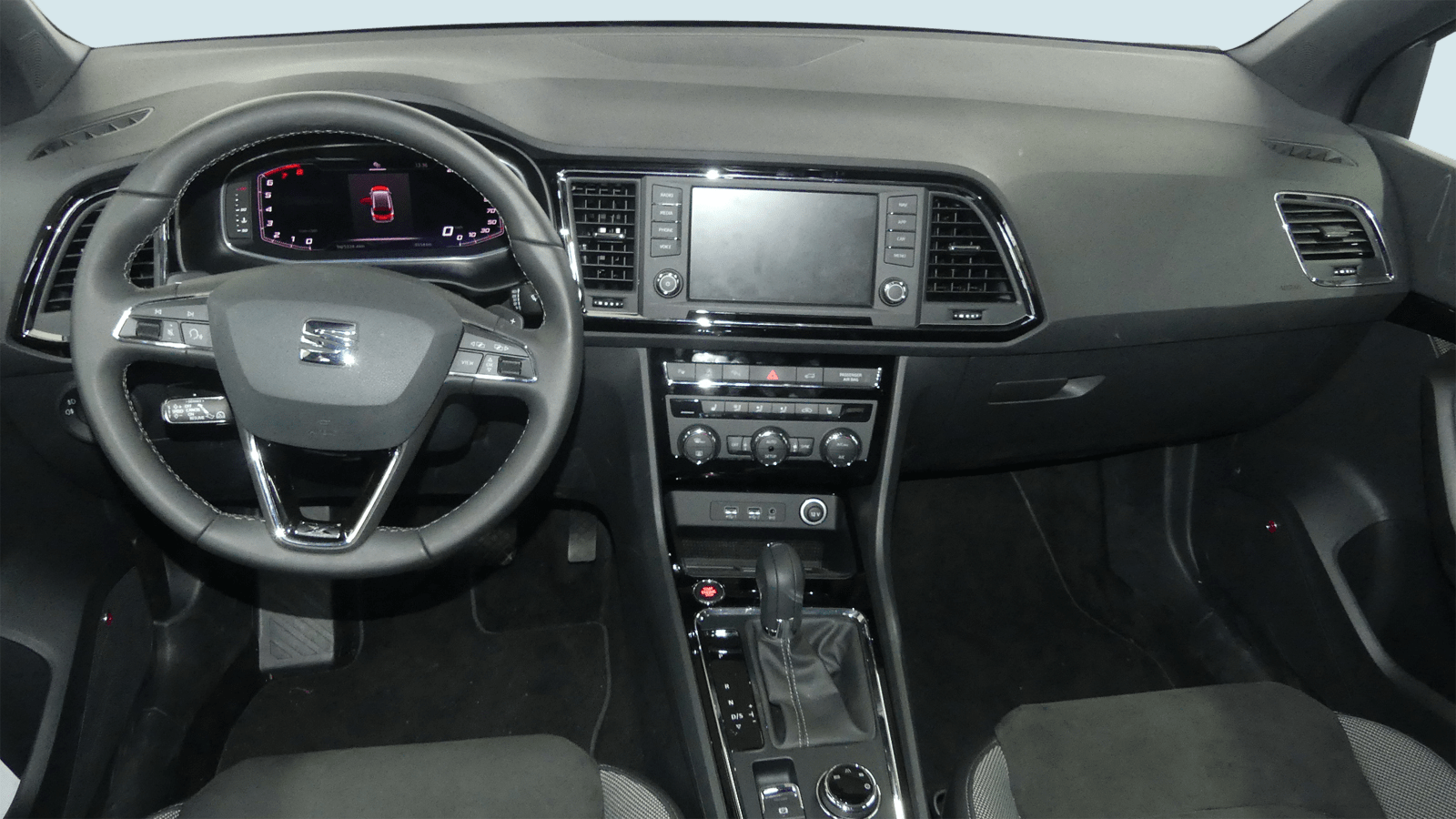 SEAT Ateca Schwarz interior - Clyde Auto-Abo