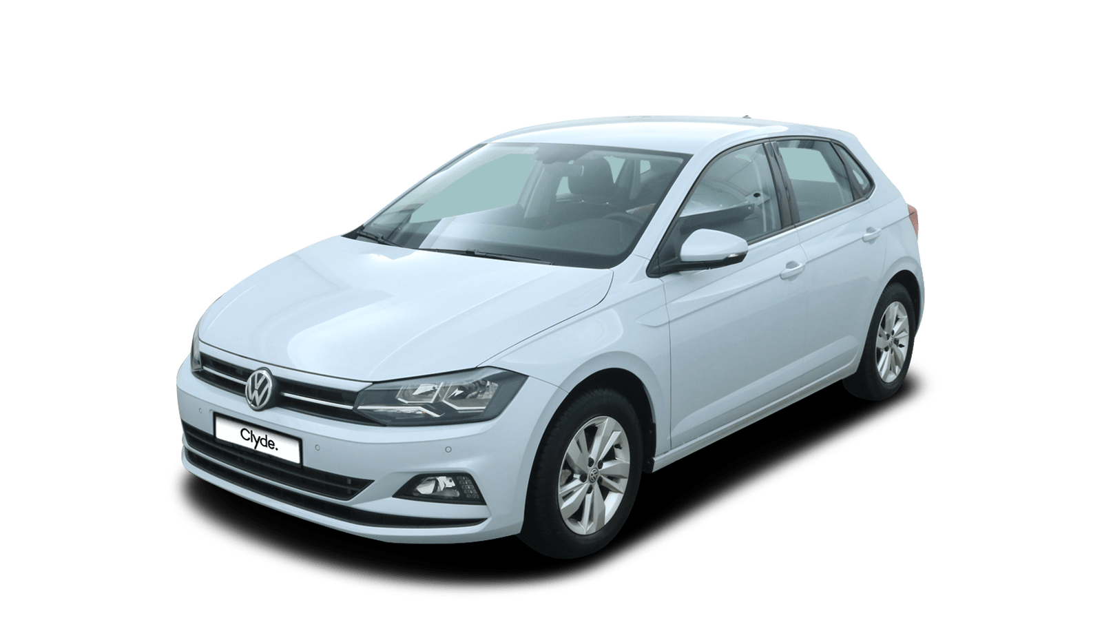 VW Polo White front - Clyde car subscription