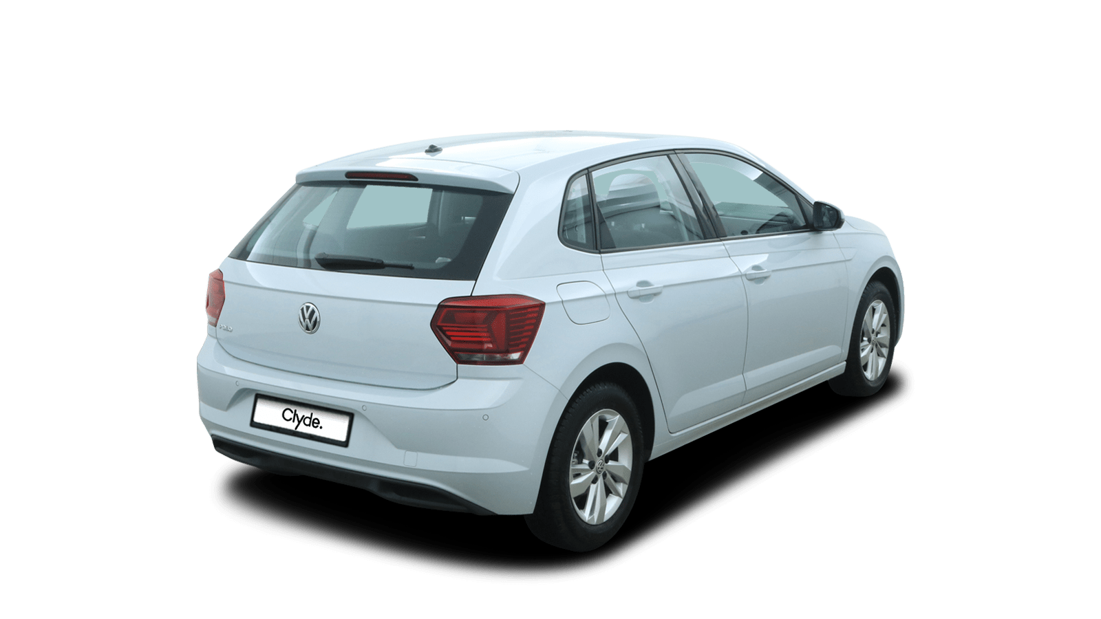 VW Polo White back - Clyde car subscription