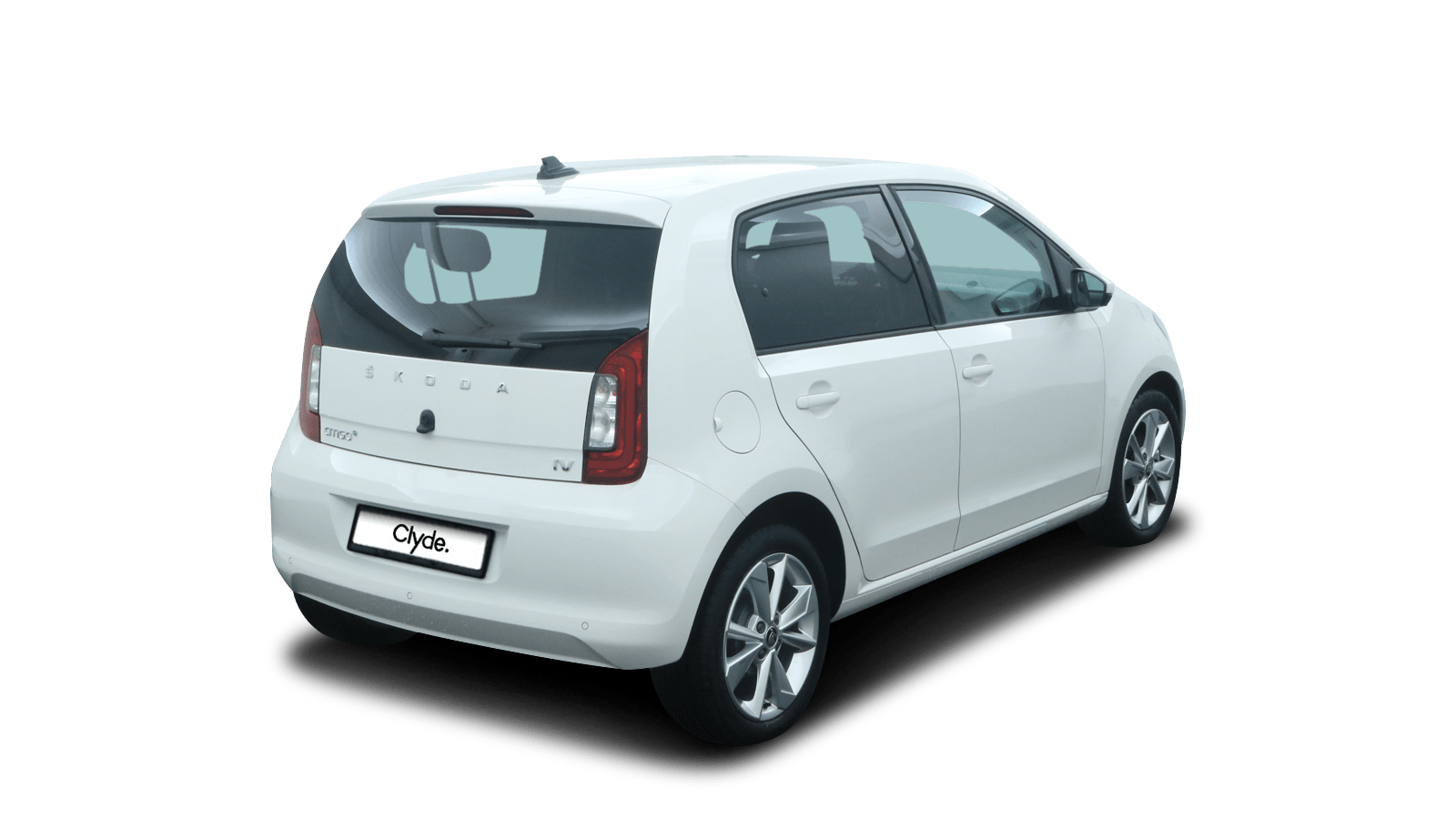 ŠKODA CITIGOe iV White back - Clyde car subscription
