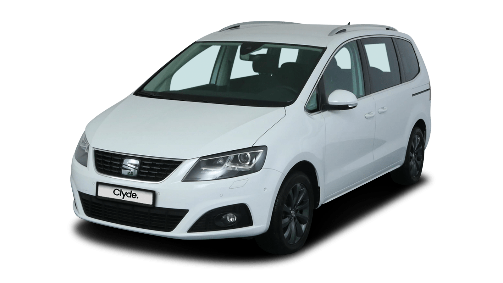 SEAT Alhambra White front - Clyde car subscription