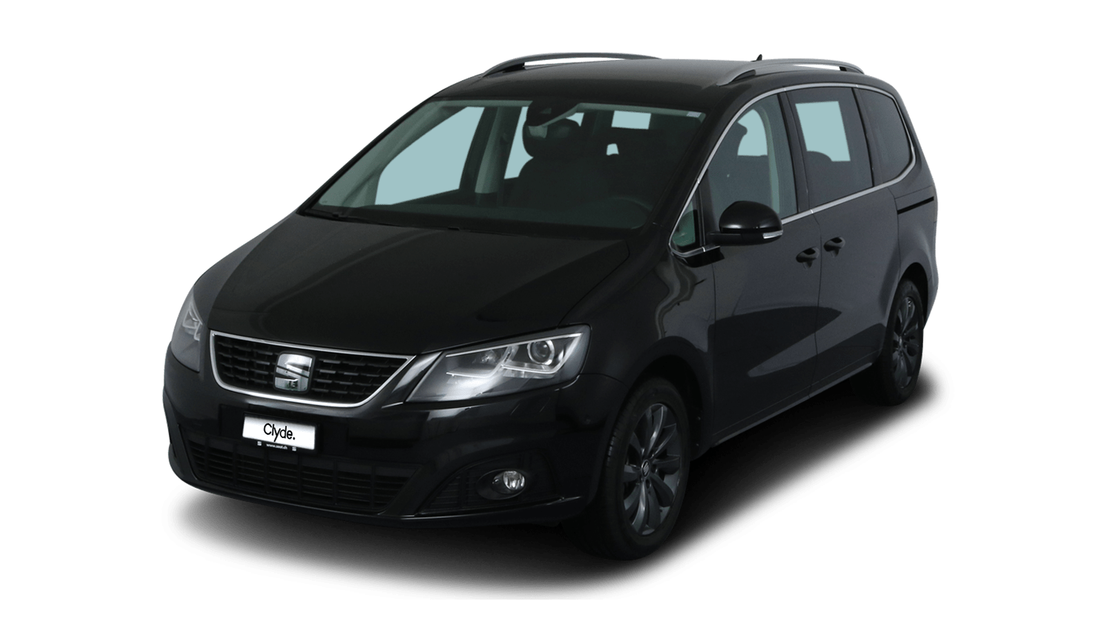SEAT Alhambra Black front - Clyde car subscription