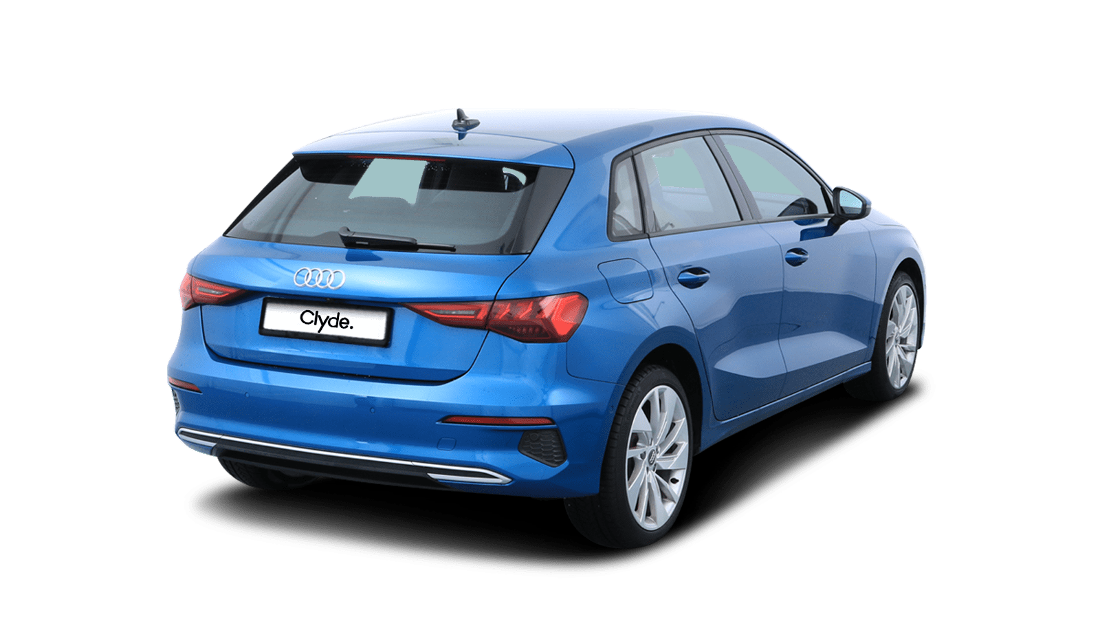 Audi A3 Sportback Blue front - Clyde car subscription