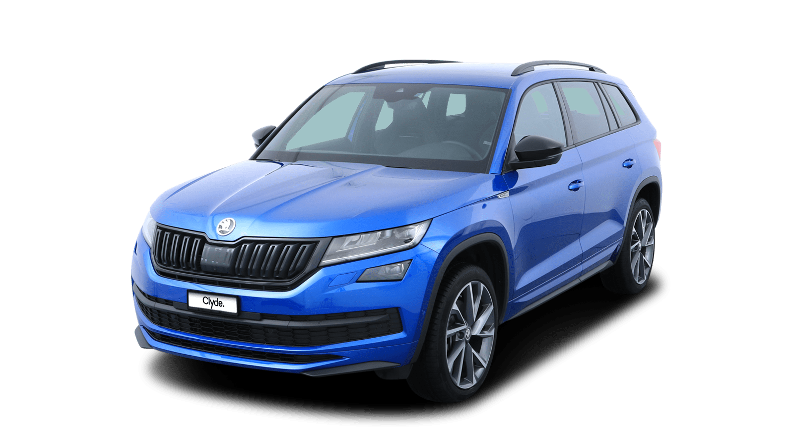 ŠKODA KODIAQ SPORTLINE Blue front - Clyde car subscription