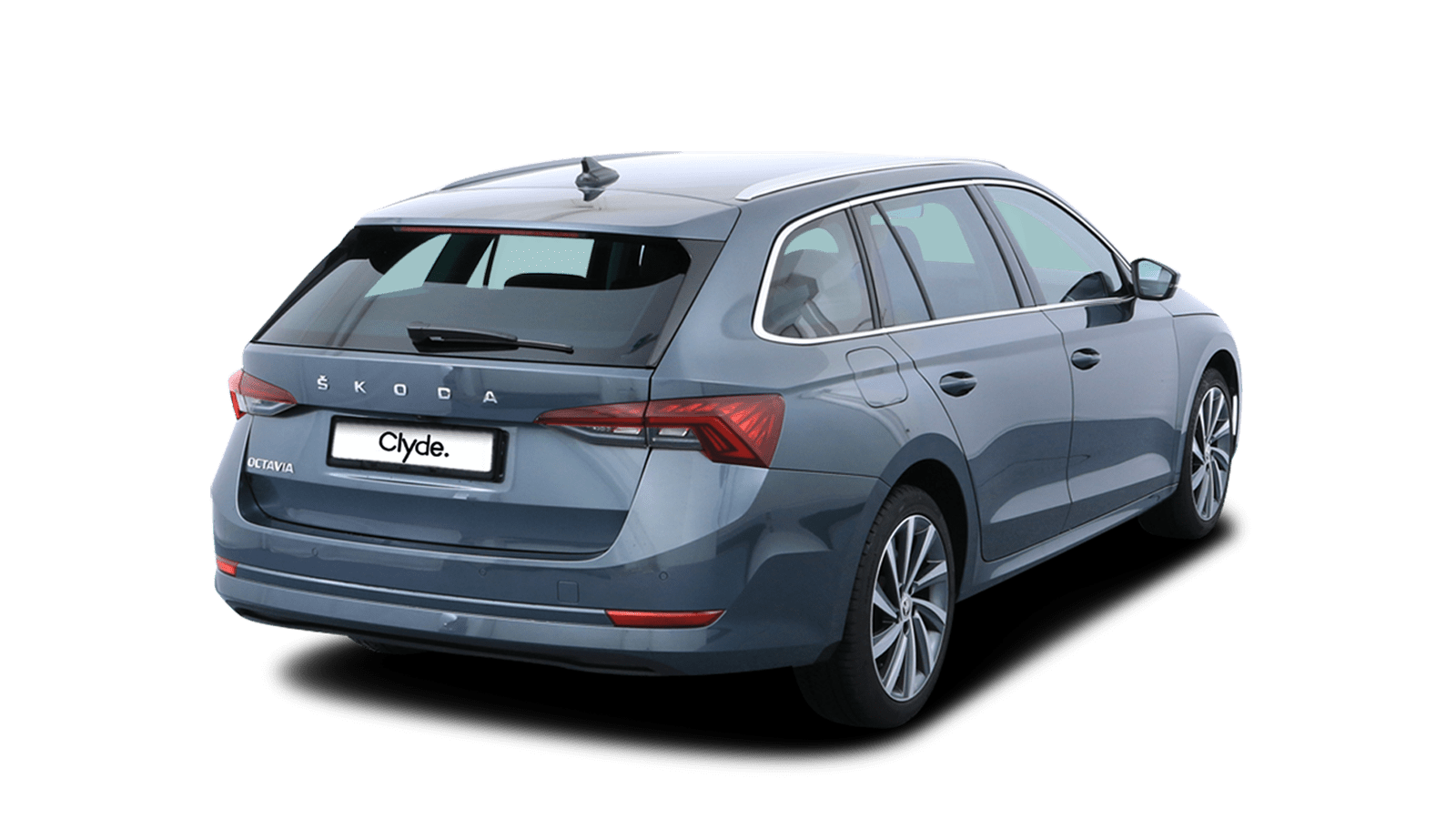 ŠKODA OCTAVIA COMBI Grey front - Clyde car subscription