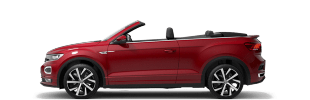 The VW T-Roc convertible and many other convertibles in the car subscription from Clyde