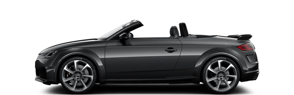 The Audi TTRS convertible and many other convertibles in the car subscription from Clyde