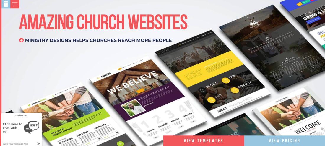 church website builders