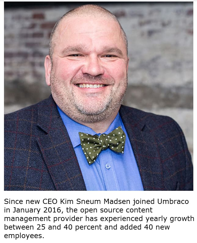 "Kim Sneum Madsen Promoted to CEO of Umbraco, the ""Friendly"" Content Management System (CMS) Provider"