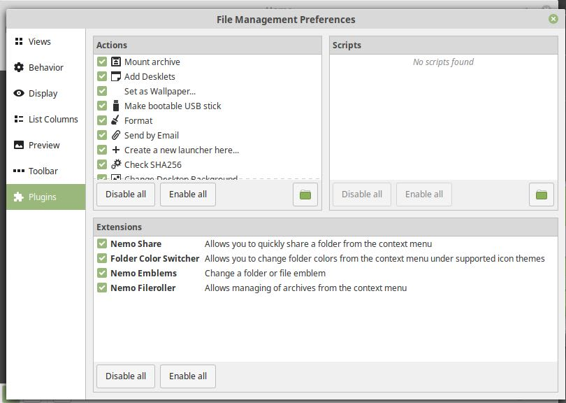Linux Mint - Nemo Customizations