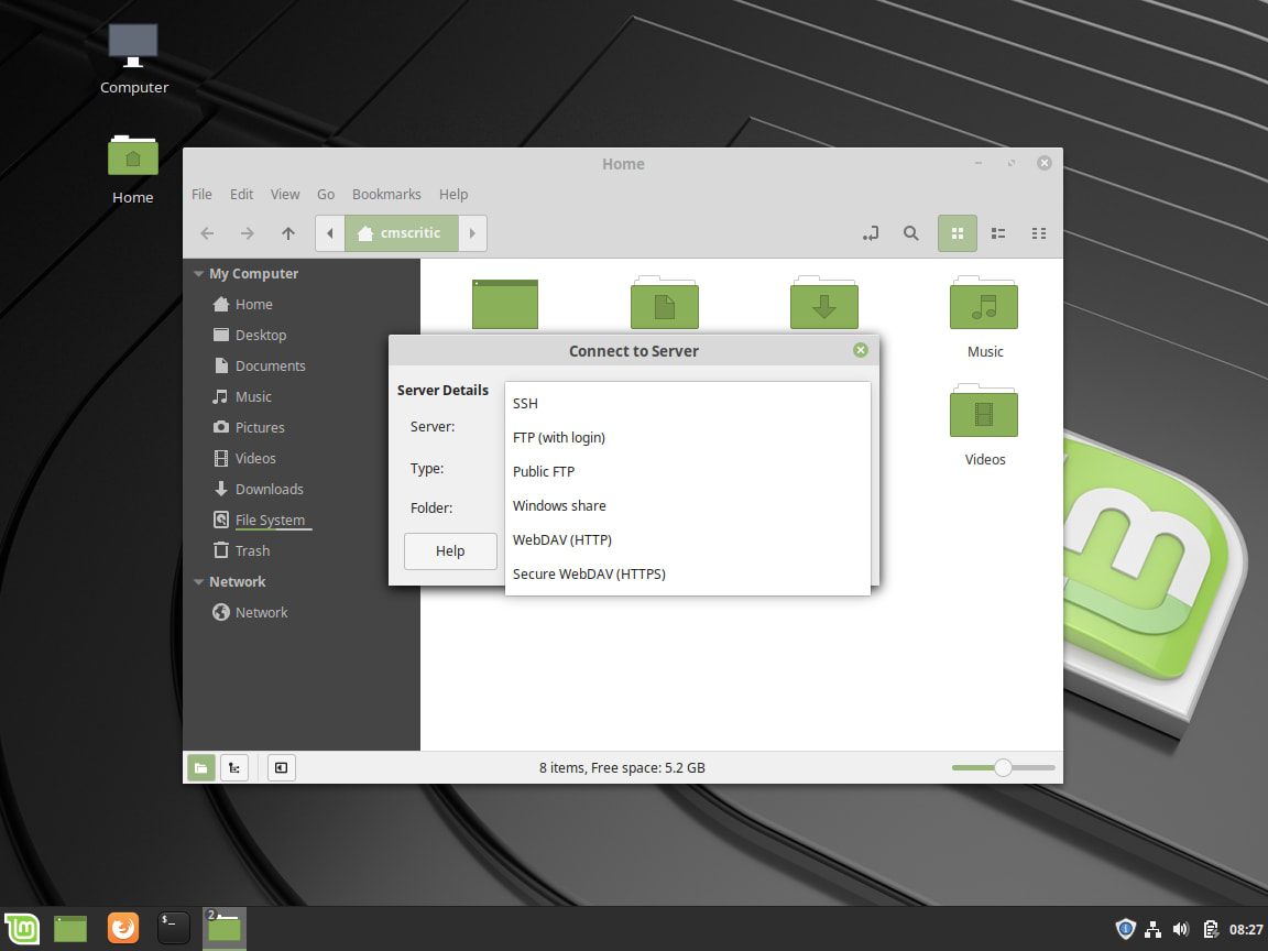 Linux Mint - Nemo