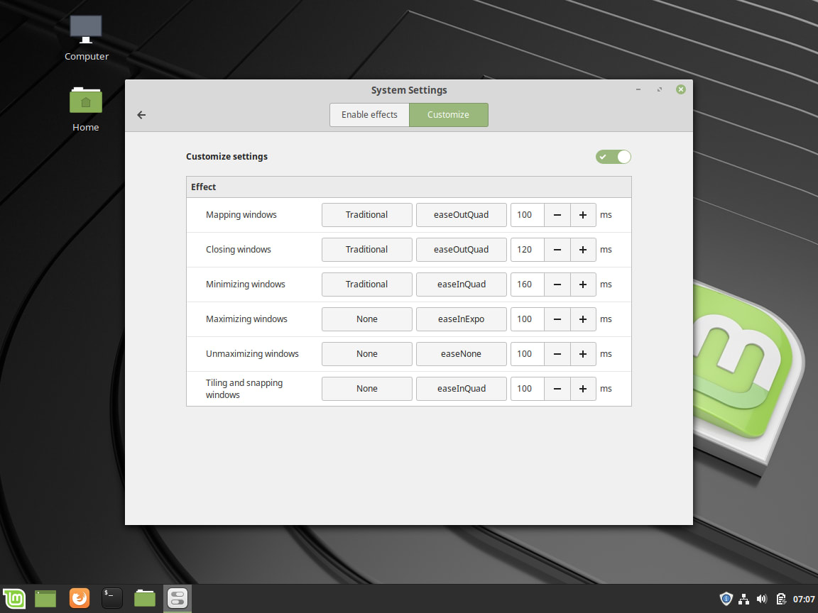 Linux Mint Review - Effects-2