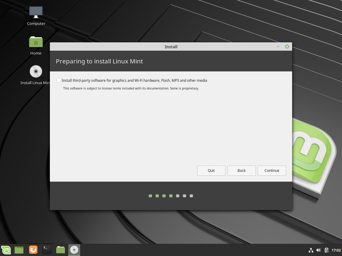 How to Install Linux Mint - Third Party Software