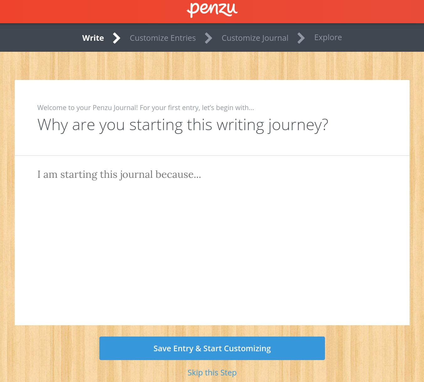 Penzu Getting Started Wizard