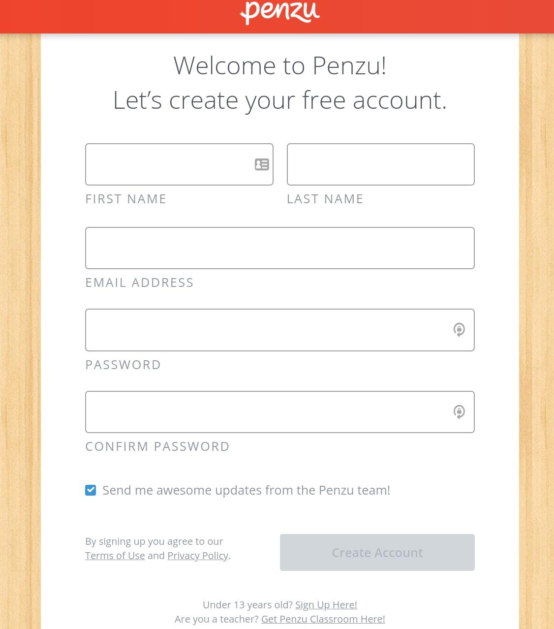 Penzu - Getting Started