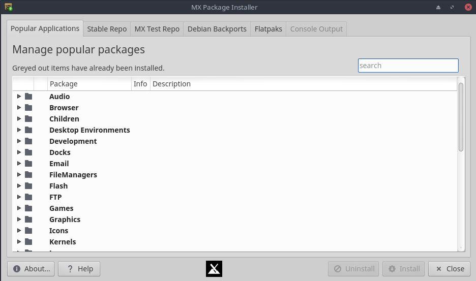 MX Package Installer