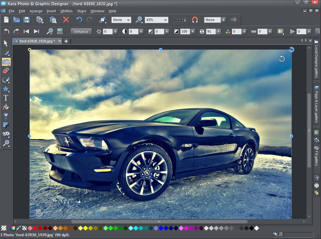 best photo editing software - xara