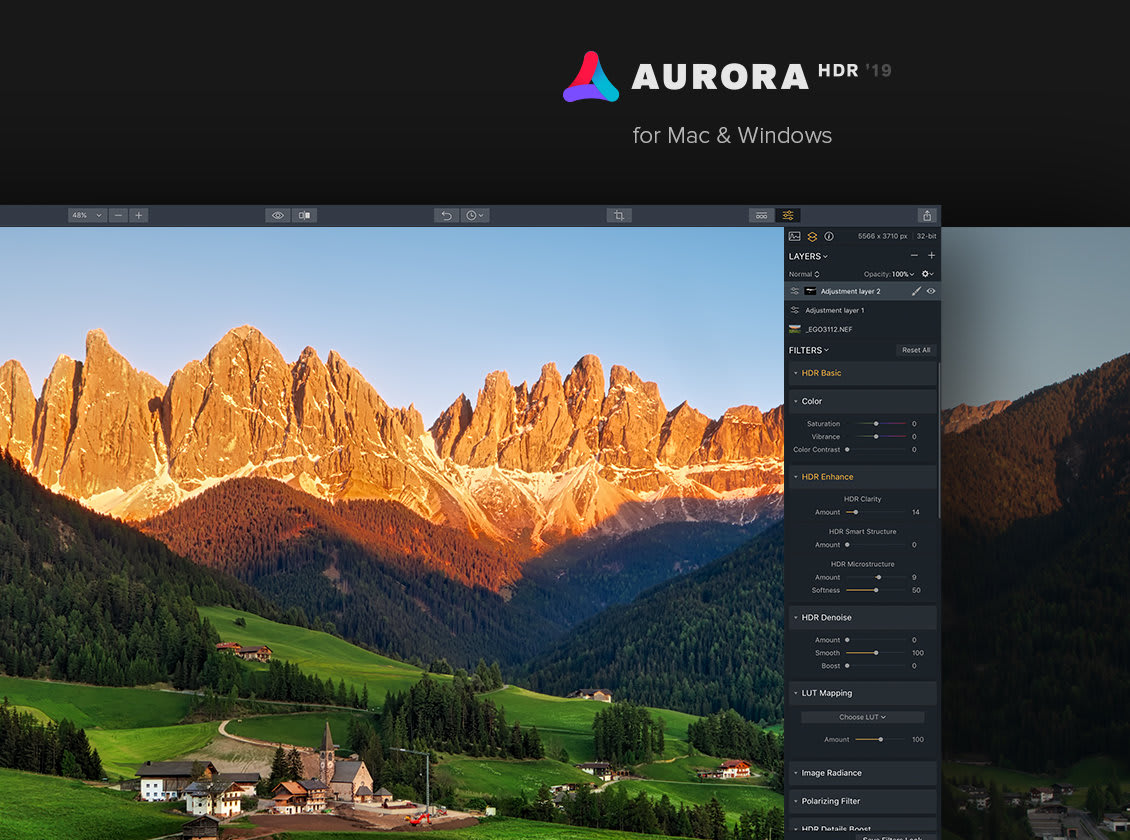best photo editing software - aurora hdr