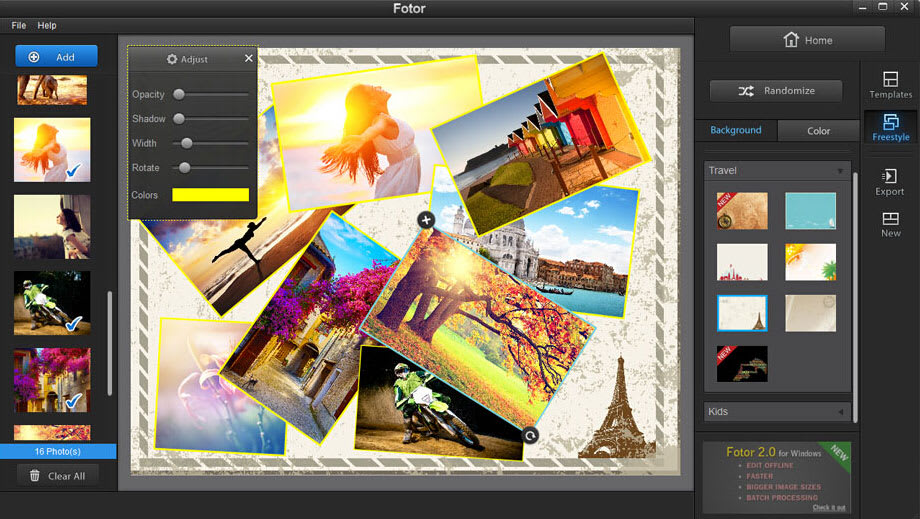 best photo editing software - fotor