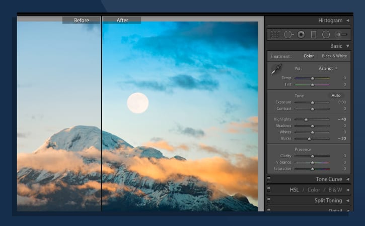 best photo editing software - adobe lightroom