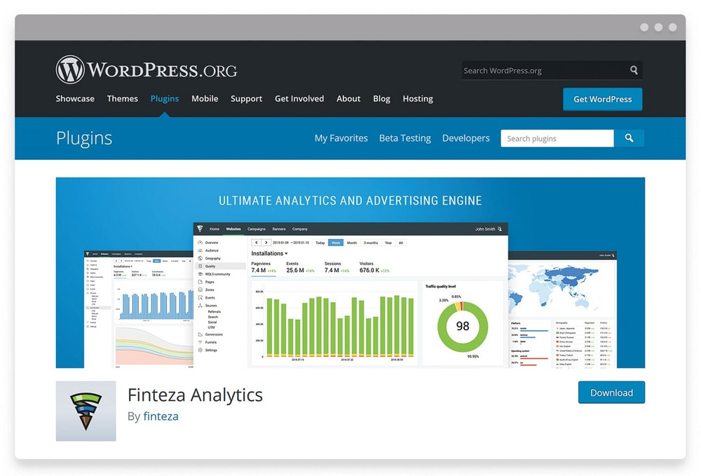 Track Your Referral Traffic Quality Via the Finteza WordPress Plugin