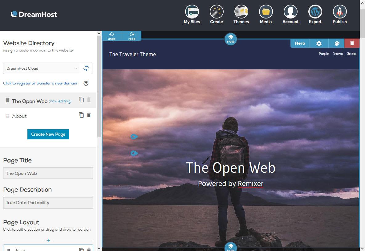 DreamHost Remixer gets WordPress Export Feature