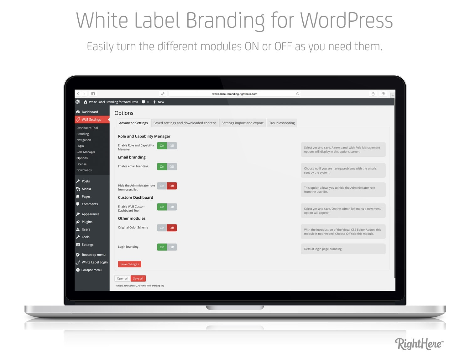 white label wordpress login
