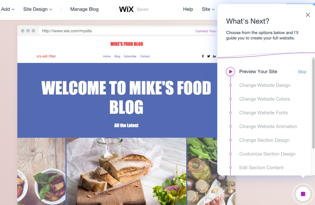 How to Create a Blog with Wix ADI (Artificial Design Intelligence)