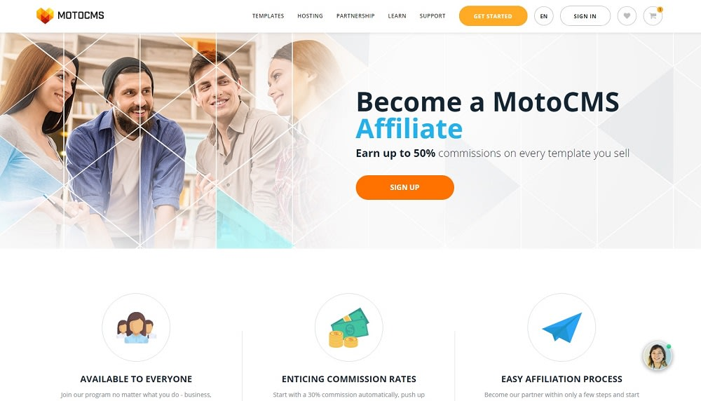 Make Your First Dollar with MotoCMS Affiliate Program