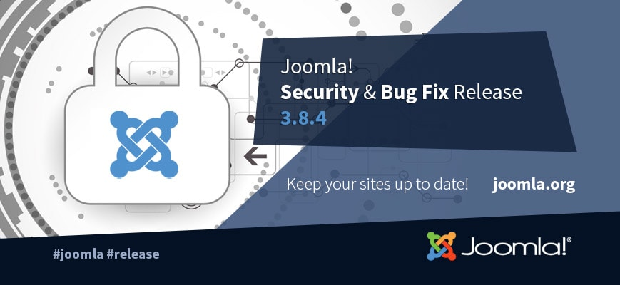 Joomla 3.8.4 Bug Fix Release Now Available