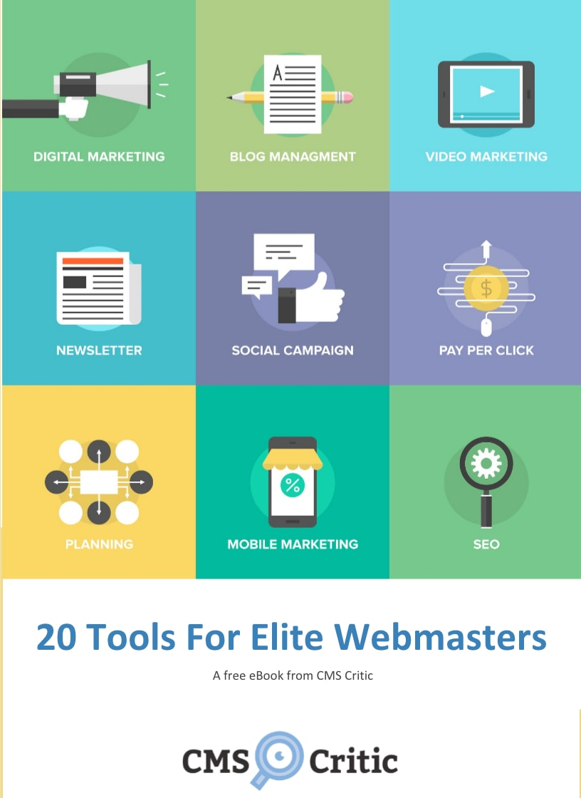 20 Tools for Webmasters - A free eBook from CMS Critic!