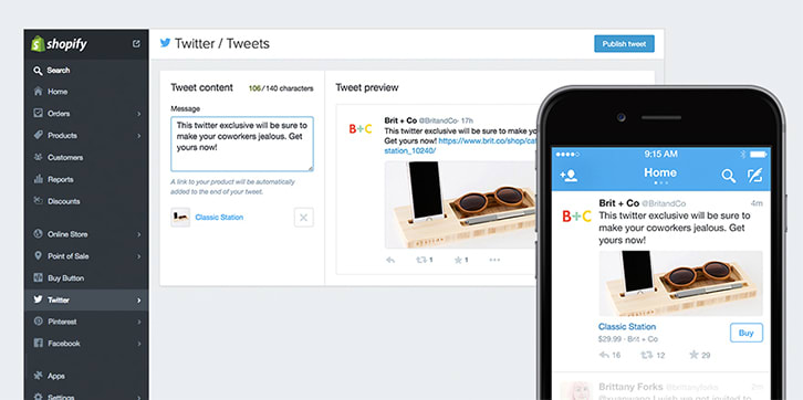 Shopify Brings eCommerce to Twitter