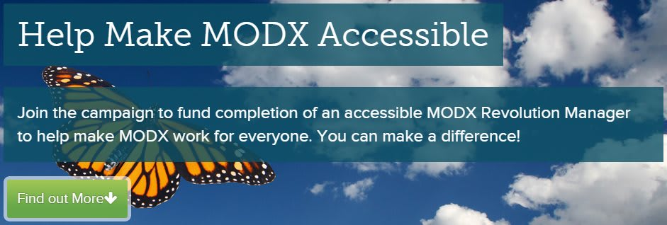 MODX Makes Noble Move Towards True Accessibility