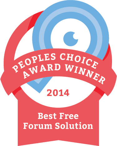 The Winner of the 2014 People's Choice CMS Award for Best Free Forum Solution