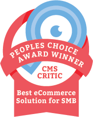 The Winner of the 2014 People's Choice CMS Award for Best eCommerce Solution for SMB
