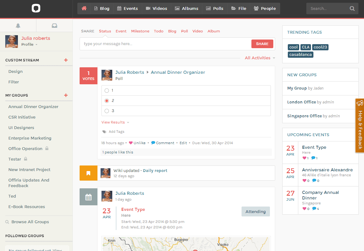 Offiria 3.0 released – Open Source, self-managed, enterprise social network software