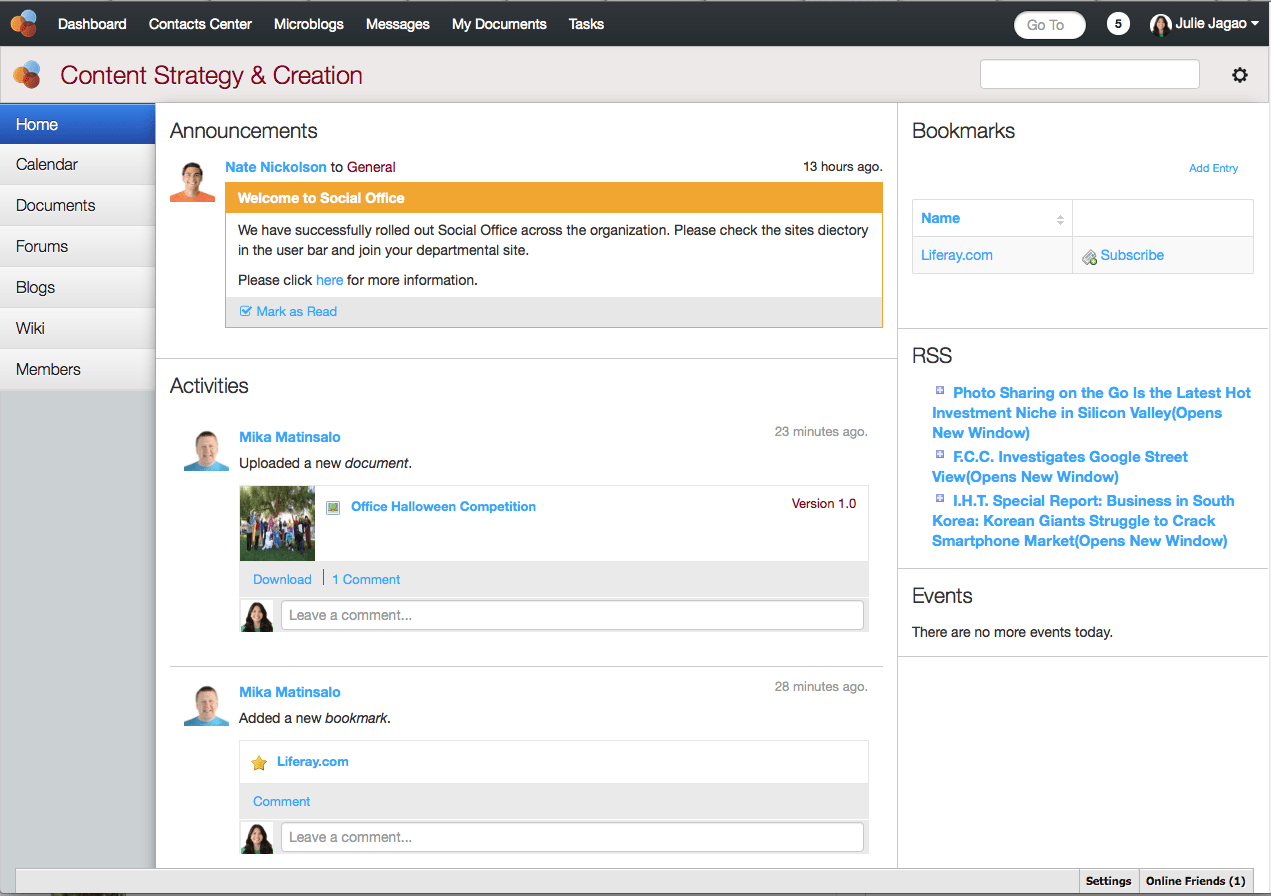 Social Office updated to work with Liferay 6.2