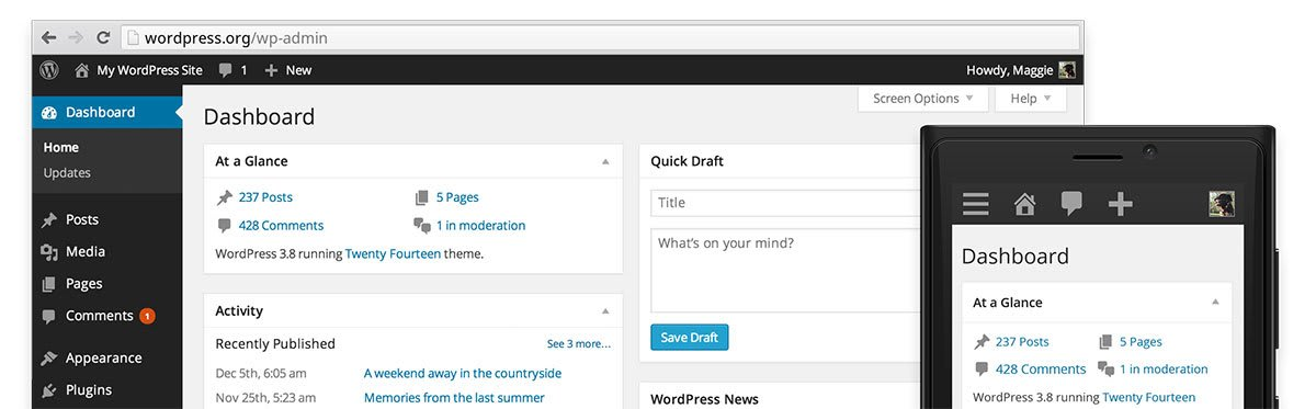 WordPress 3.8 brings Interface Overhaul and Better Mobile Experience
