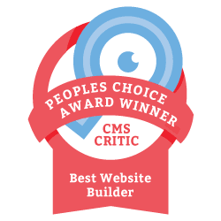 2013 People's Choice Winner for Best Website Builder